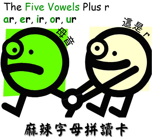 r-controlled vowels 受r控制的母音
