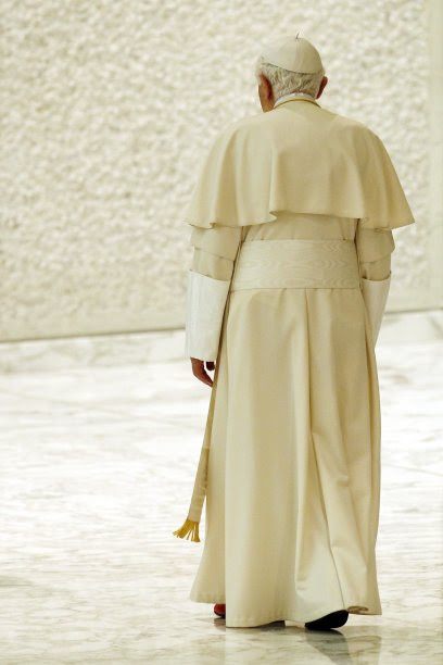 Image result for pope benedict walking away