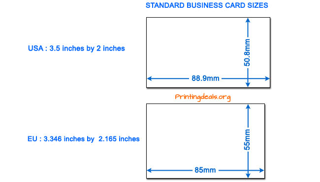 business card sizes - Average Business Card Size