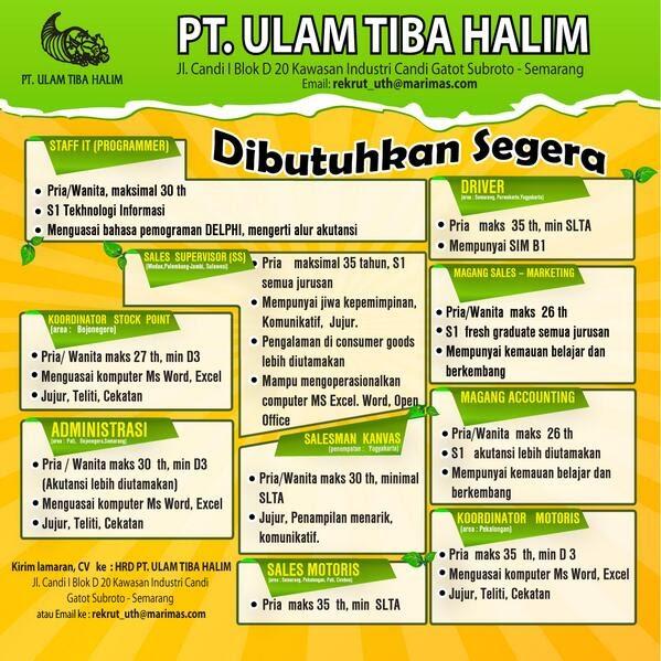 Gaji Pt Sami Semarang - Gaji Pt Sami Semarang Lowongan ...