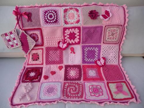 'Think Pink' Breast Awareness Blanket.