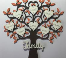 Best of Family Tree Wooden Picture Frame