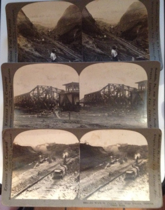 Antique Stereoview Cards Panama Canal Photos... | Vintage Around The Clock