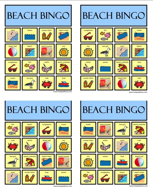 Bingo boards colors