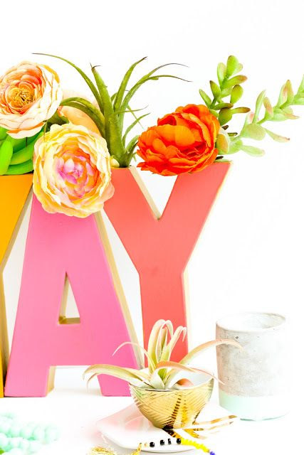 Home Decor DIY's : Make your own custom, Oh Joy! for Target inspired, typography vase using cardboa... - Decor Object | Your Daily dose of Best Home Decorating Ideas & interior design inspiration