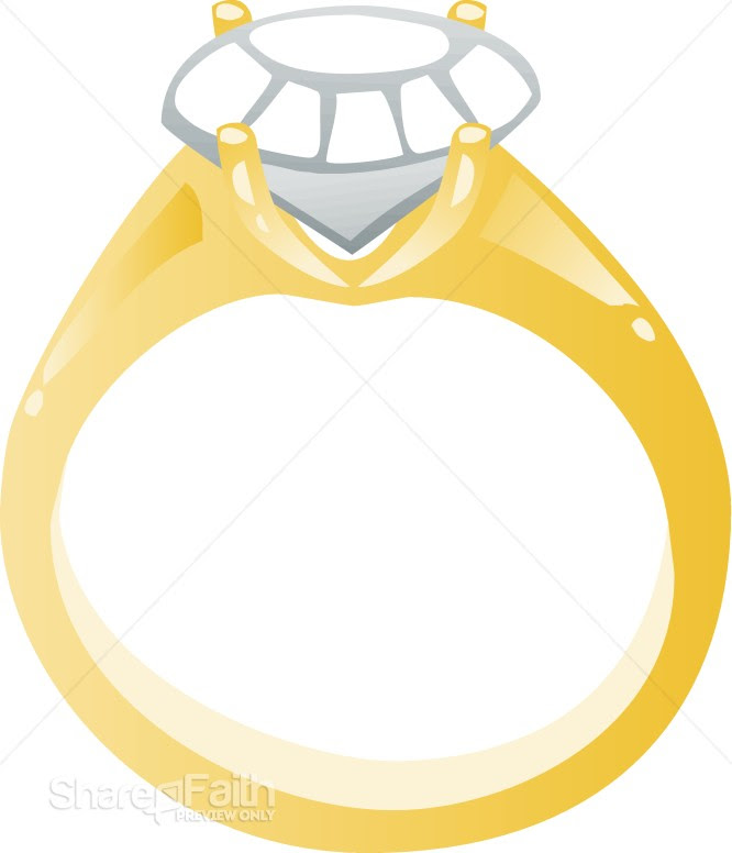 Cartoon wedding ring pictures