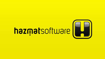 develops software used to produce documentation and shipping labels to ship hazardous materials logo design