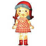 """ProductWorks 18"""" Pre- Lit Island of Misfit Toys Sally Doll Yard Decor- 35 Lights"""