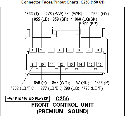 1997 ford explorer factory stereo wiring diagram  wiring