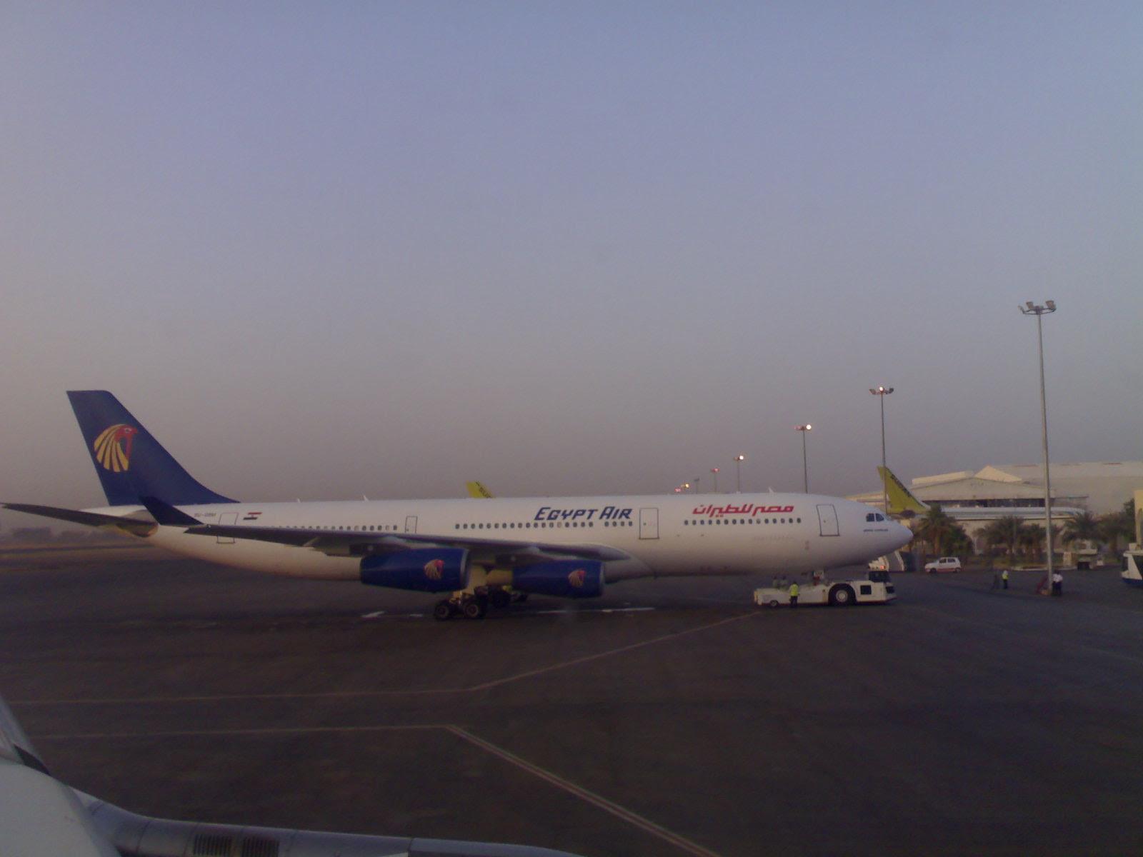 Egyptair's last remaining A340 in Khartoum, Sudan