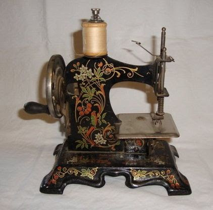 hand-painted, toy German sewing machine ... c. 1880