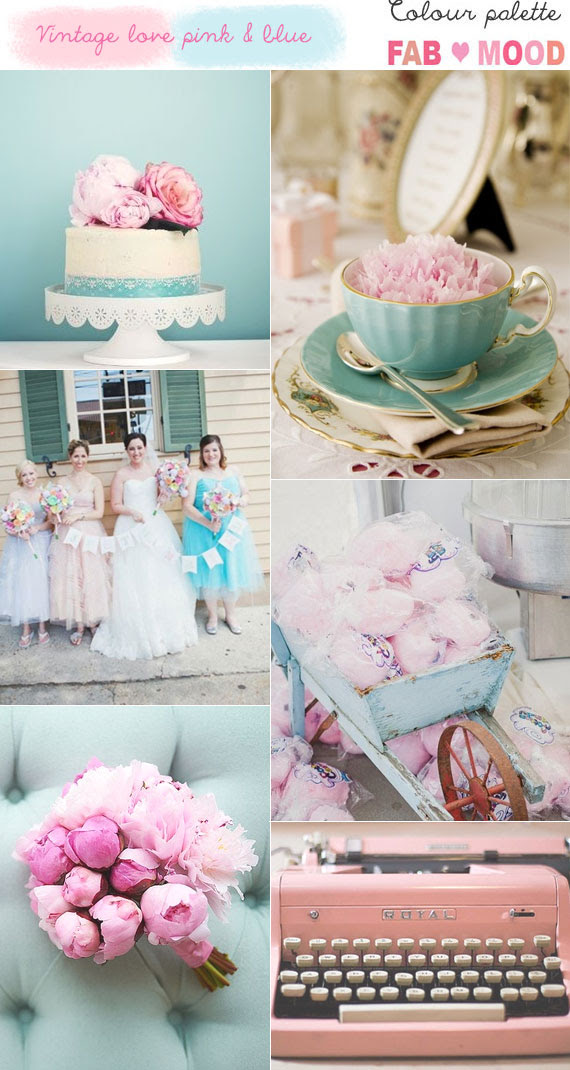 Vintage Pink And Blue Wedding