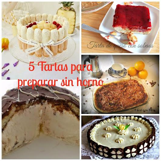 5 Tartas que no necesitan horno ni moldes especiales