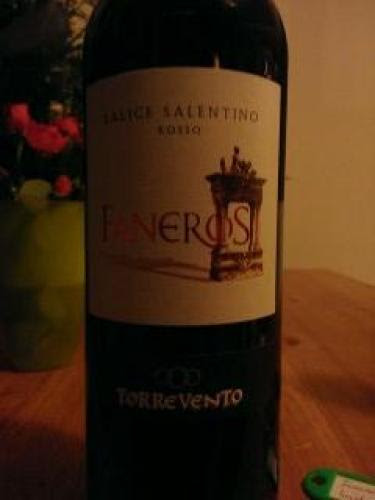 Torrevento Faneros Salice Salentino Rosso 2011