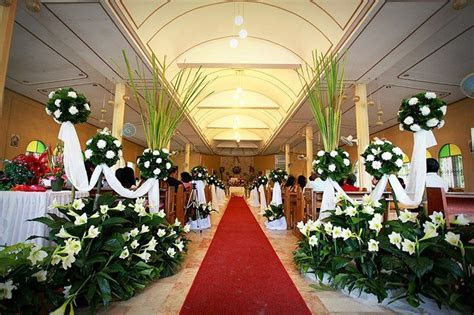 Simple Church Wedding Decorations   Living on a budget