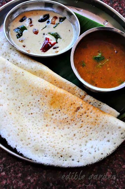 Plain Dosa Recipe - How to Make Dosa Batter at Home (Step by Step, Tips and FAQs) - Edible Garden