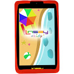 "LINSAY 7"" Kids Funny Tablet 1024x600 HD 1GB RAM Tablet with Defender Case - Red"