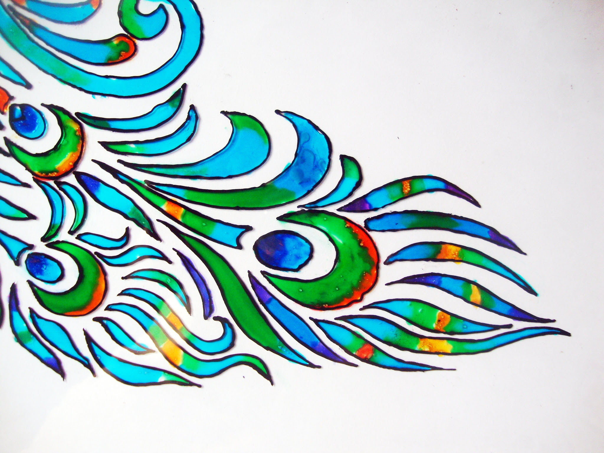 Glass Painting Designs Free Download Peacock Llll