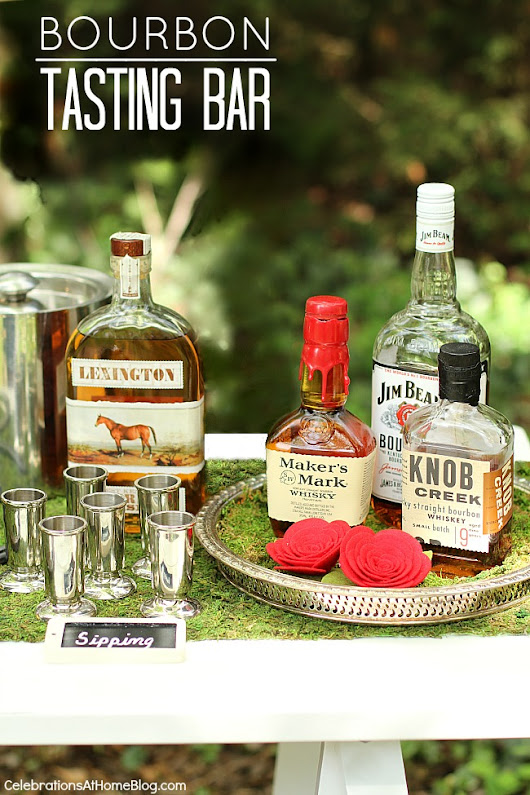 How to Set Up A Bourbon Bar - Celebrations at Home