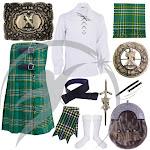 Scottish Kilts Outfit Irish tartan Set with ST Andrews Accessories 46 / 3XL