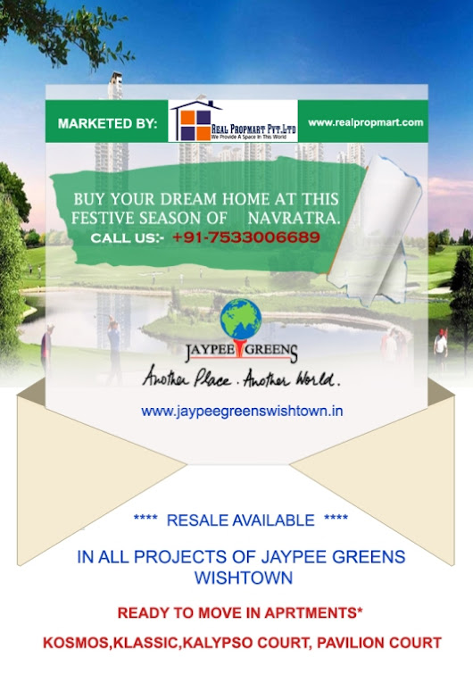 Why should invest with Jaypee Greens Wishtown Noida?