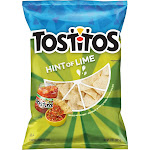 Tostitos Flavored Tortilla Chips, Hint of Lime - 13 oz