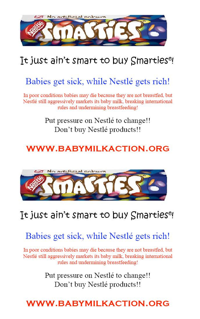 Don't buy smarties