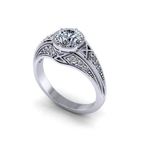 Round Filigree Engagement Ring   Jewelry Designs