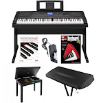 Yamaha DGX660B Digital Piano w/ Knox Piano Bench, Dust Cover, Pedal, Book & DVD