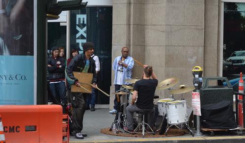 Full Drum Kit on the street