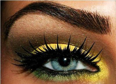 Bright Yellow Eyeshadow Tutorial On Dark Skin ...
