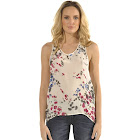 Standards & Practices Women's Lace Front Floral Silk Racerback Tank Top