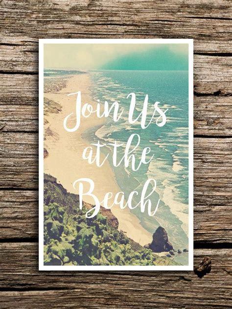At the Beach Wedding Save the Date Postcard // Destination