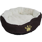 "Evelots Soft Pet Bed for Cats & Dogs w/ Minor Factory Defects,17""D x 5""H,Brown"