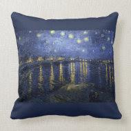 Starry Night Over the Rhone - Van Gogh (1888) throwpillow