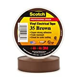 3M Scotch #35 Electrical Tape, Brown, .75-Inch by 66-Foot by .007-Inch