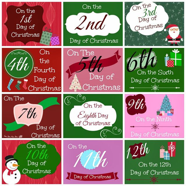 Busy Mom's Helper: Family fun, food, recipes and crafts.: 12 Days of Christmas Printable Tags @Danielle Reeves