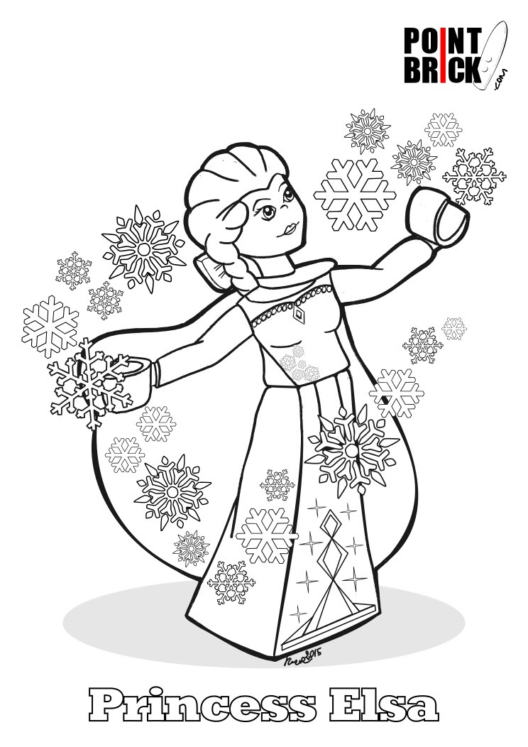 Point Brick Blog Disegni Da Colorare Lego Hulk Ed Elsa Di Frozen