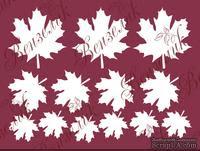 Чипборд от Вензелик - Набор кленовых листьев, размер: 200x150 мм - ScrapUA.com
