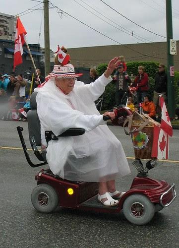Canada Day parade granny