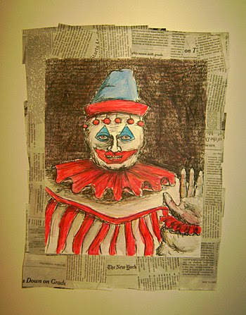 Drawing of a serial killer John Wayne Gacy
