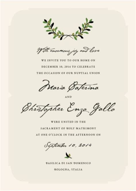 Italiano   Hypothetically Speaking   Wedding Invitations