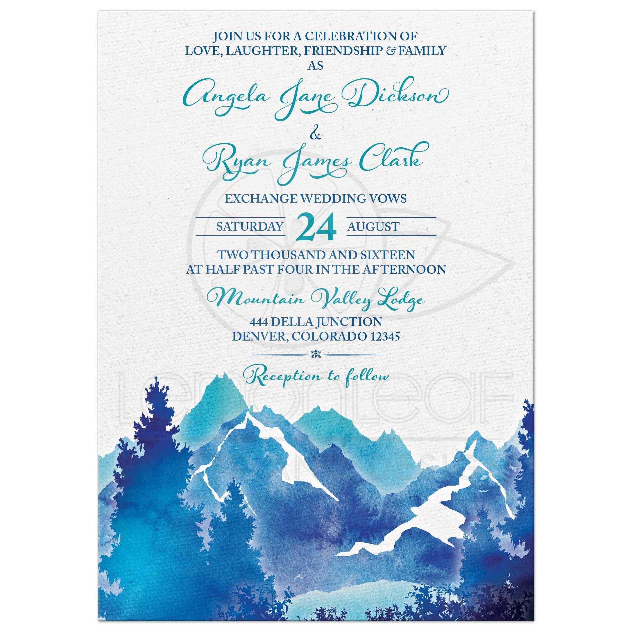 agenciademodeloscorupa: 4 Images Blue Wedding Invitation Cards