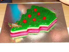 Christmas jelly cake