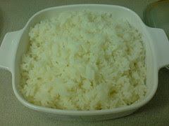 One week's worth of cooked rice