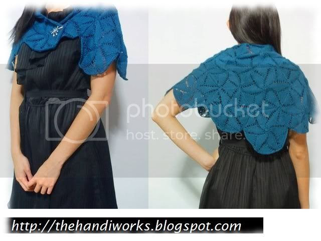 cotton hexagon knitting shawl for Singapore