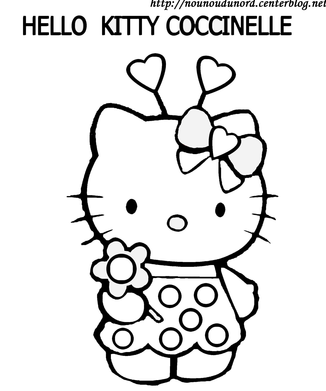 Coloriage hello kitty gratuit dessin a imprimer 50