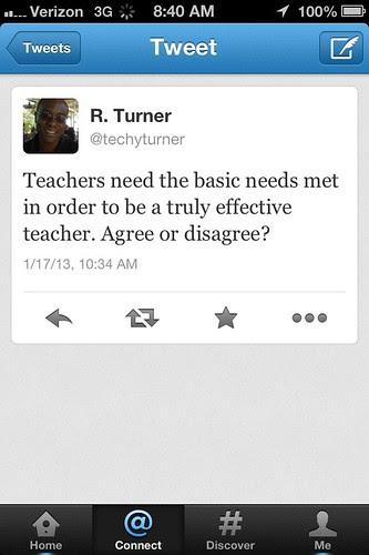 Teacher basic needs