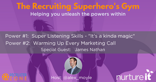 Recruiting Superhero's Gym & Guest James Nathan - Crowdcast