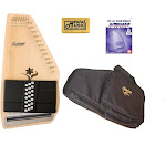 Oscar Schmidt 21 Chord Autoharp, Select Spruce, Flower Shaped Soundhole OS45CE AC445PACK